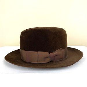 Vintage Biltmore Velour Fedora Hat